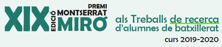 XIX Edició Premi Montserrat Miró als Treballs de recerca d'alumnes de batxillerat