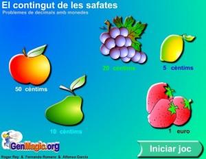 Decimals amb fruites