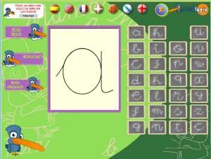 Aprèn a escriure les lletres-grafisme- (Childtopia)