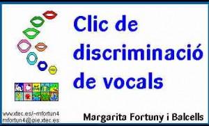 Clic de discriminacio de vocals (M. Fortuny)