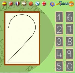Aprèn a dibuixar els nombres (Childtopia)