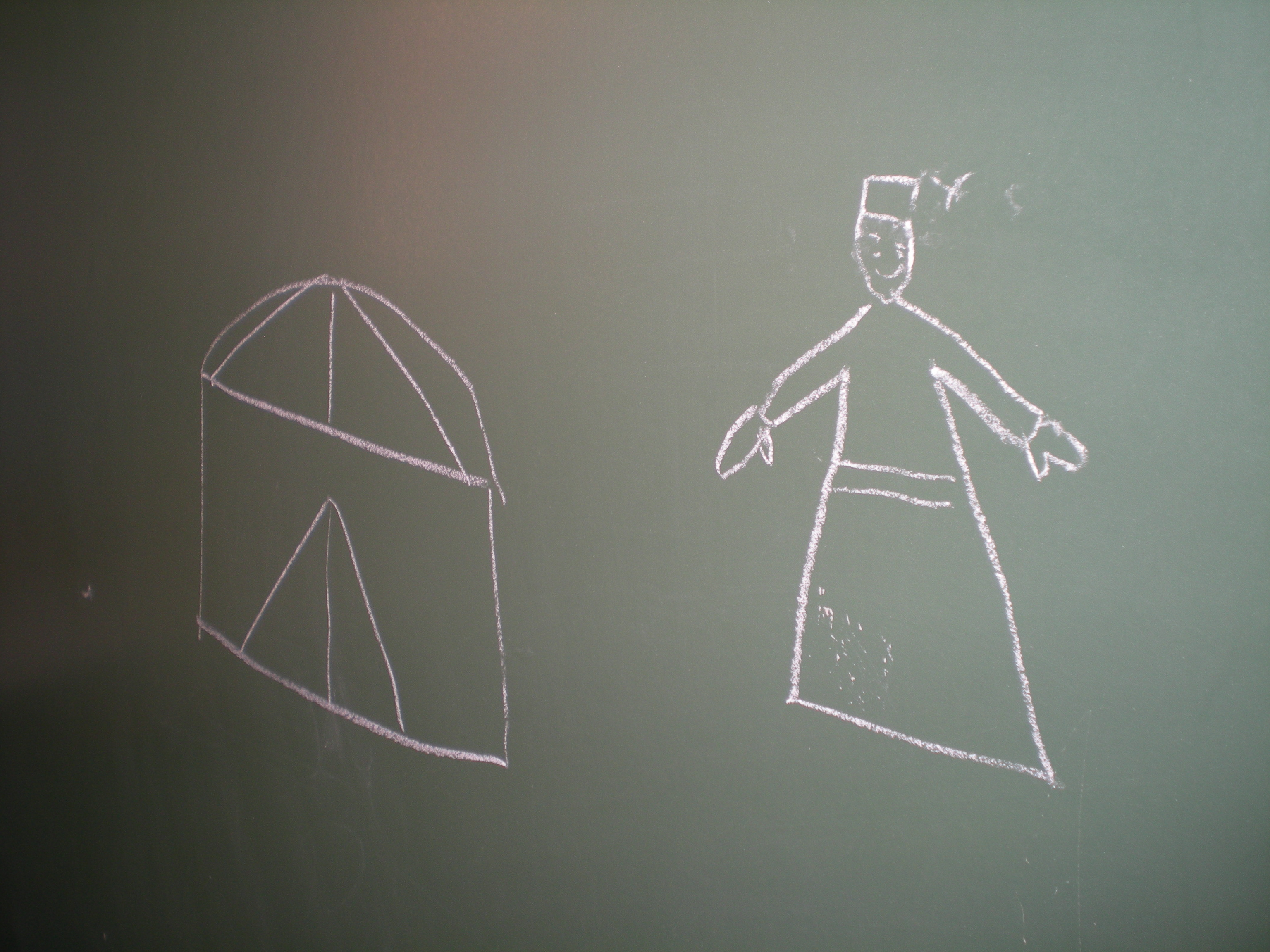 La casa i el vestit típic