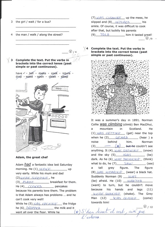 Present simple and continuous exercises pdf 2o eso | English for ESO