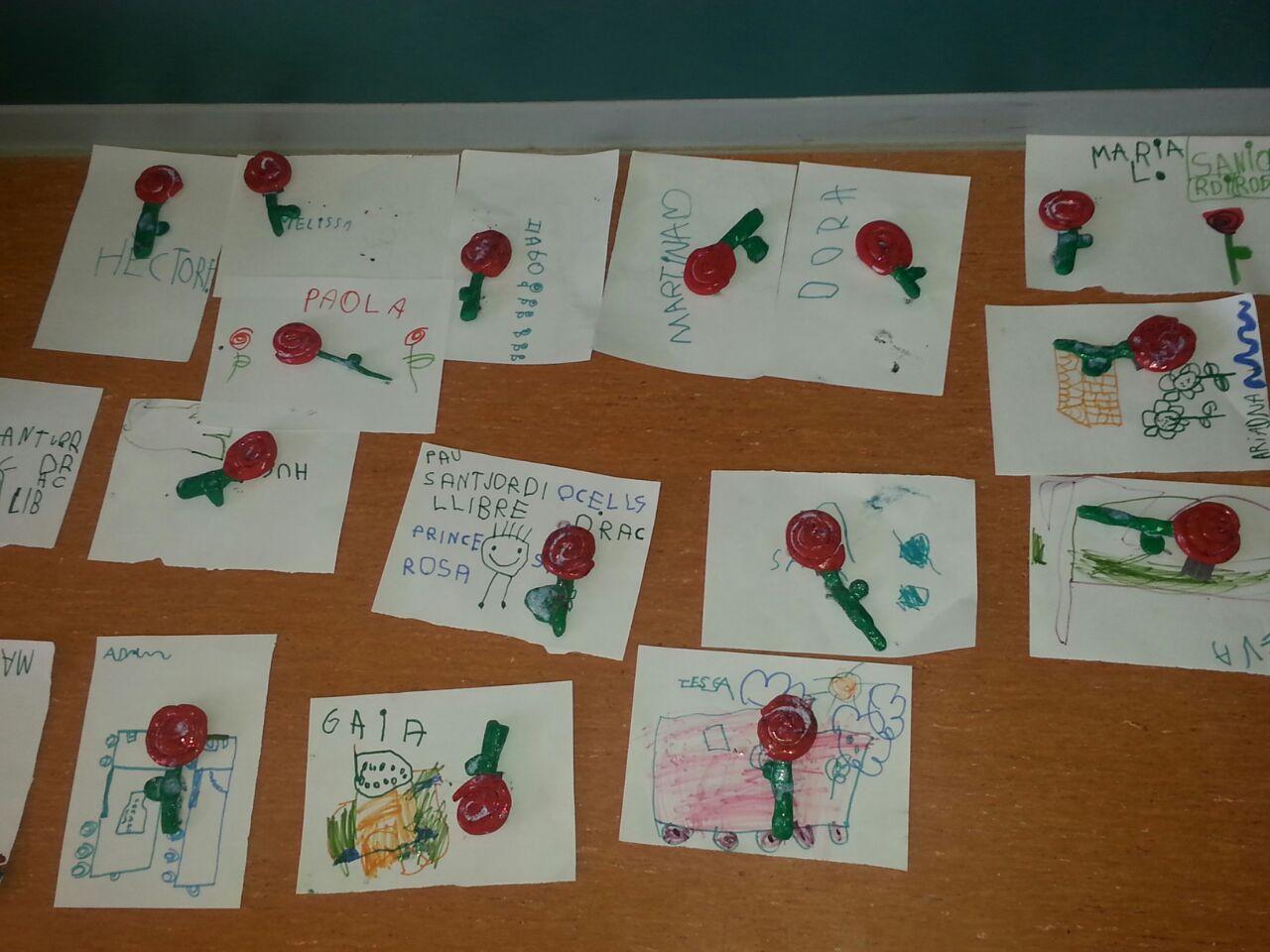 Les roses que van fer a Cicle Infantil a la Escola