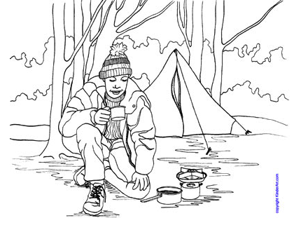 Outdoor Recreation Colouring Pages