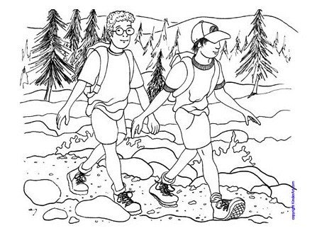 forest hiking trails coloring pages - photo#8