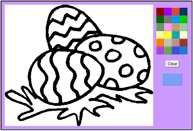 easter eggs pictures to colour. Colour the Easter eggs (1st
