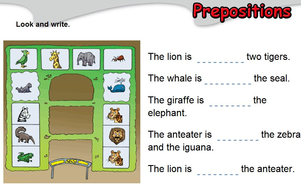 anglès a l'Escola Splai | Prepositions review (5th & 6th grade)