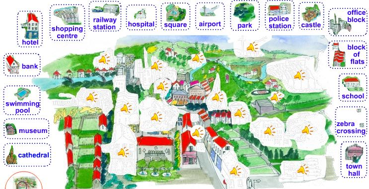 Lu0026#39;anglu00e8s a lu0026#39;Escola Splai : Learn the places in a town ...