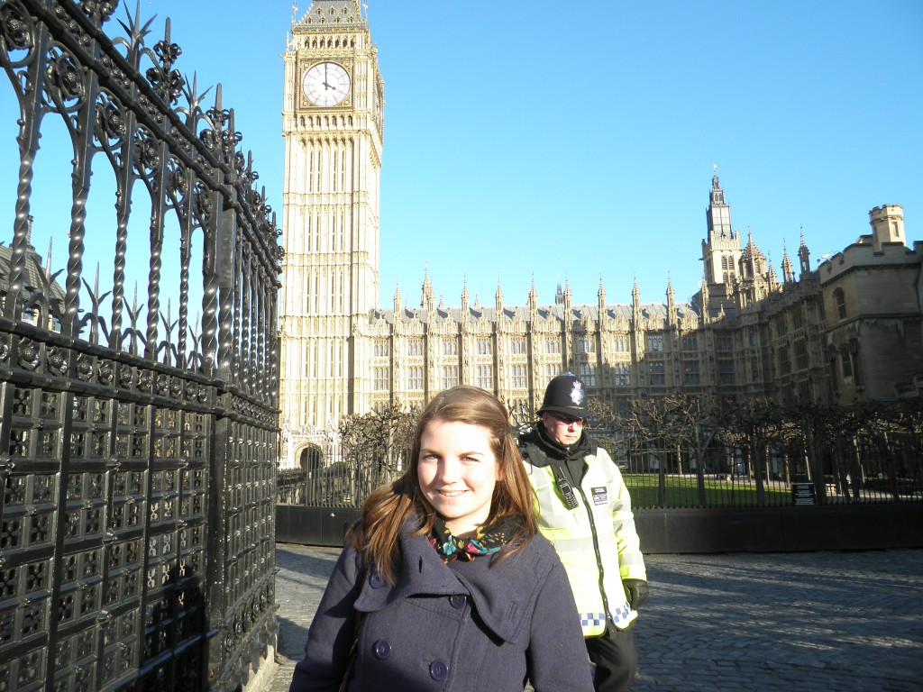 Me outside of the Houses of Parliament