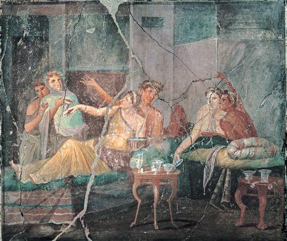 Fresc de Pompeia.  Banquet romà