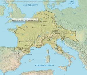 Evolucion territorial Imperio carolingio