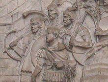 Tubae romanas en una legio de Trajà.