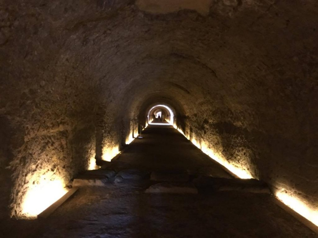 Part subterrània del pretori.