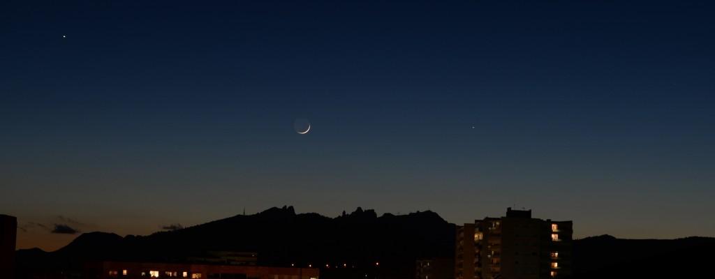 Lluna, Mercuri i Aldebaran