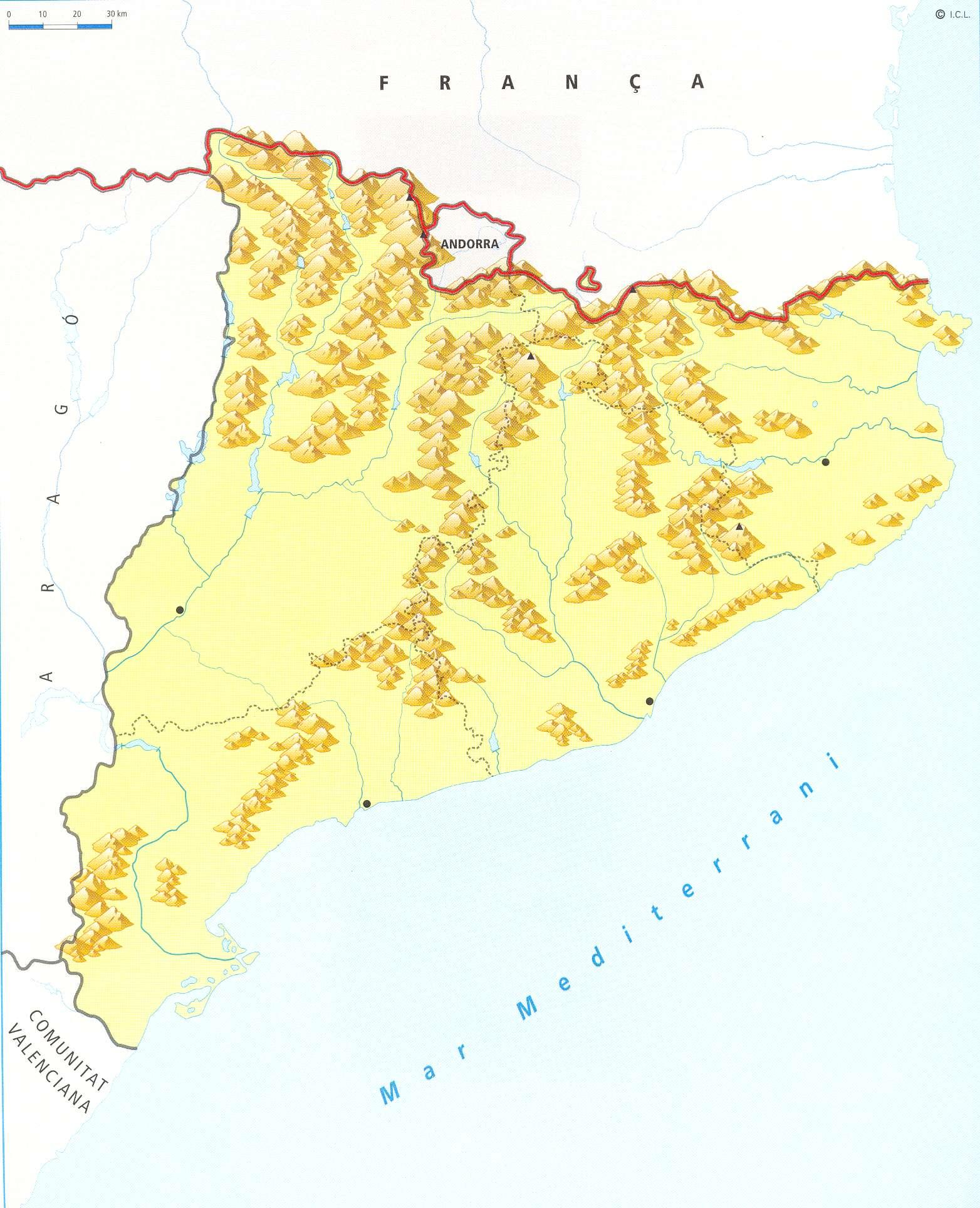 Mapa de Catalunya ms de 100 imgenes para descargar e imprimir