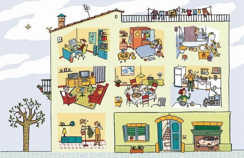 Les parts de la casa experi ncies aula acollida - Cosas para la casa ...