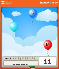 numbers ballons