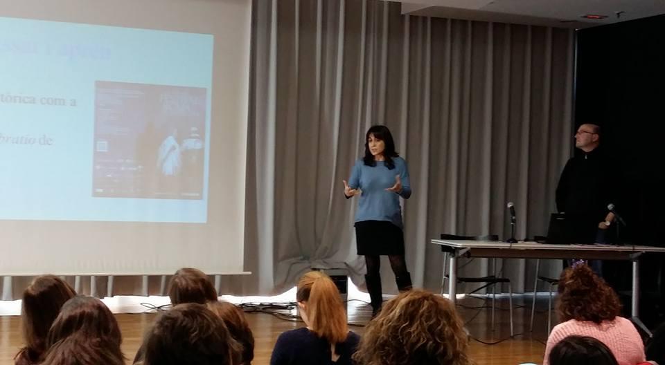 """Presentació de l'""""Schola"""" a les Jornades Creativa-ment (13-II-2016)"""