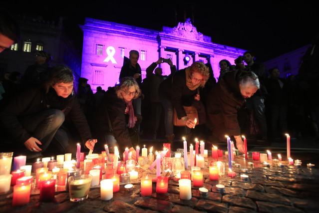 BARCELONA 25/11/2015 Sociedad. Día Internacional para la Eliminación de la Violencia contra las mujeres Violencia machista Violencia de genero FOTO de FERRAN NADEU