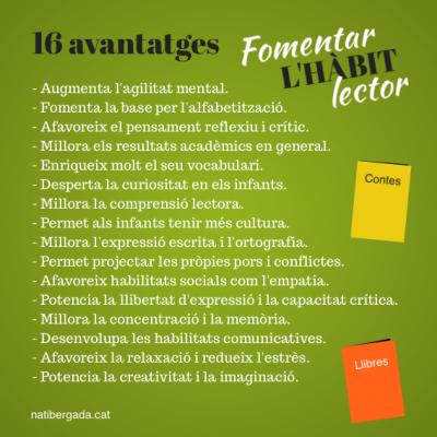 16 avantatges de fomentar l'hàbit lector