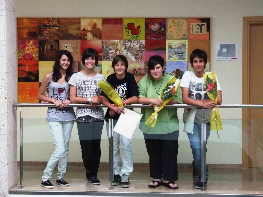 Guanyadors de la Frau: Paula Castillo, Laura González, Aleix Morell, Ariadna Díaz i Jesús Escrivà