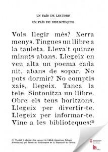 Cartell commemoratiu de l'any de les biblioteques de les Biblioteques de la Diputació de Girona