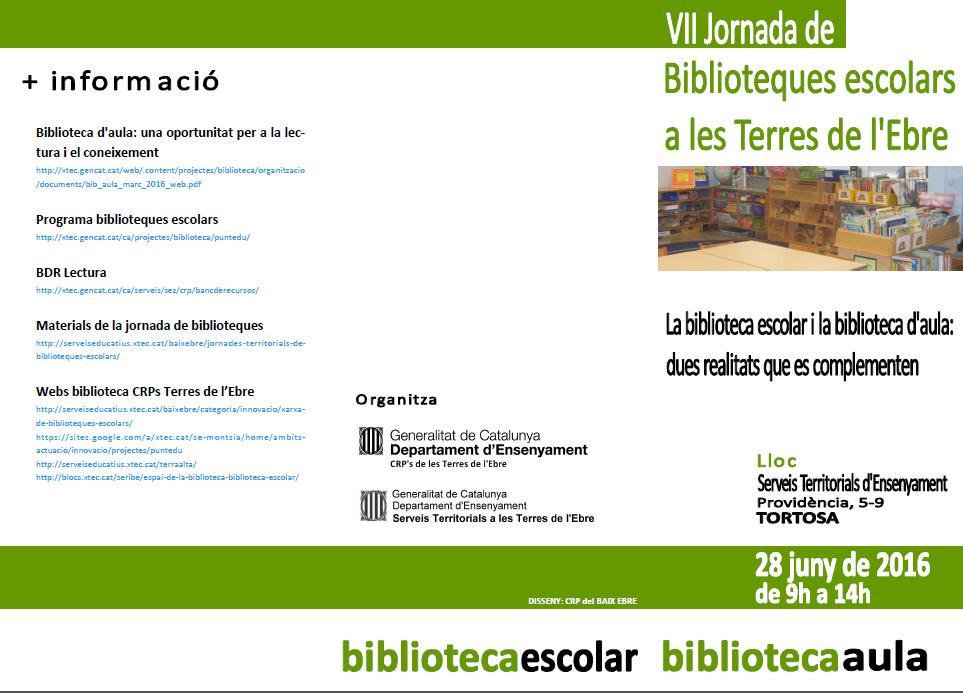 Programa Jornada Biblioteques TE juny2016