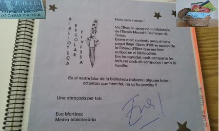 Diari ruta bibliocabas Ribera Escola Tivissa
