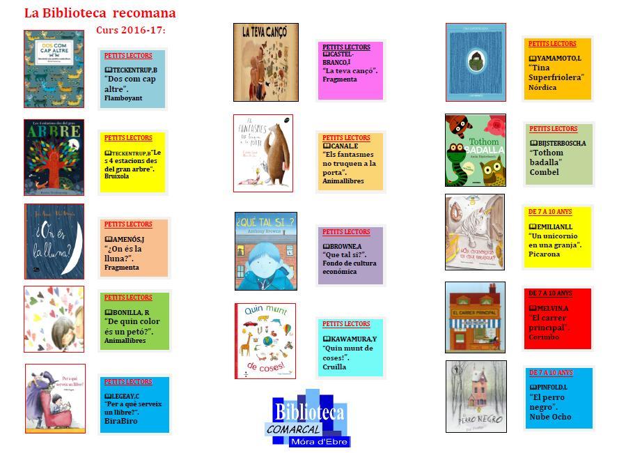 recomanacionsbibliotecacomarcalnovembre2016