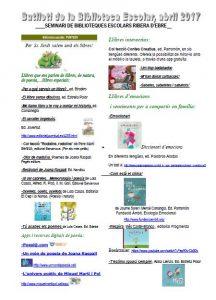 Butlletí Seminari Biblioteques Escolars abril 2017