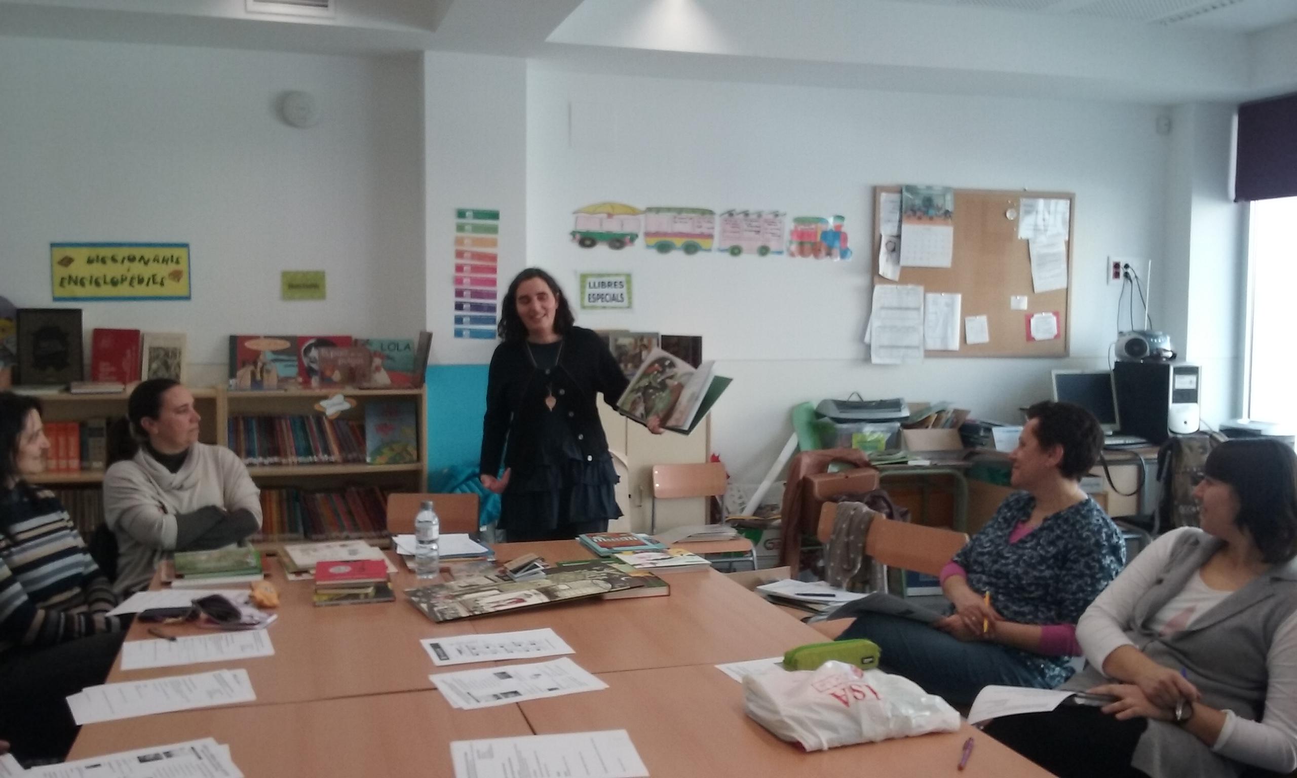 20160309 Biblioteca Escola Lluís Viñas, Ass. Oblit Casa Anita