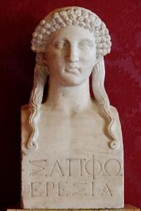 Busto de Safo. Copia romana de un original griego del siglo V a.C.