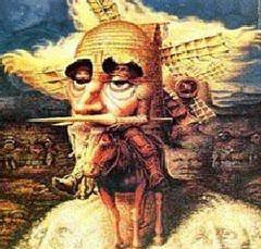 Don Quijote, según Dalí