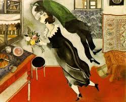 El cumpleaños, de Marc Chagall