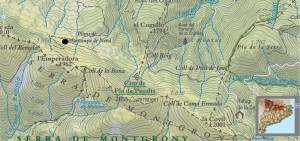 Mapa topogràfic de la zona