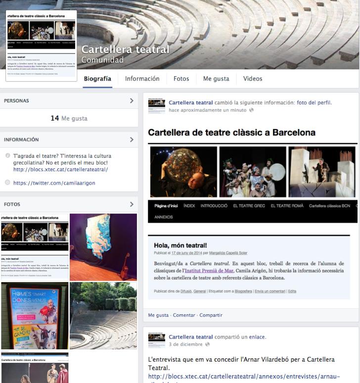 Cartellera teatral a facebook cartellera de teatre for Cartellera teatre barcelona