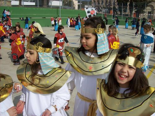 Detalls de la disfresa d'egipcis