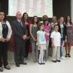 Jurat i alumnes premiats dels Jocs Florals