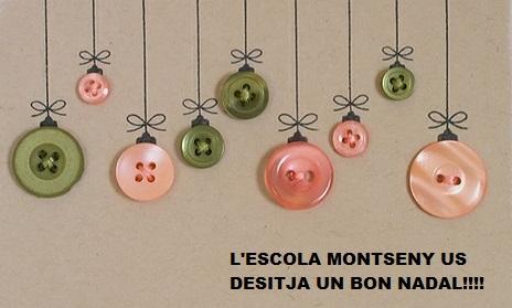 <strong>L'Equip Directiu, el Claustre i tot el personal de l'escola us desitgem un Bon Nadal.</strong> <strong> Tornem el dia 8 de gener!!</strong>
