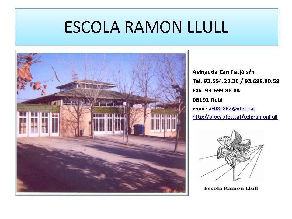 Escola Ramon Llull. Qualitat educativa