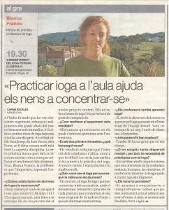 Entrevista del diari El Periódico sobre el projecte de ioga Iyengar