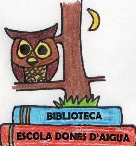 LOGO guanyador de la Bibliotec de L'Escola Dones d'aigua (Carla Collado)