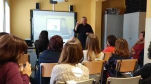 Joan Padrós parlant de l'experiència de la Flipped Classroom al CFA Palau de Mar