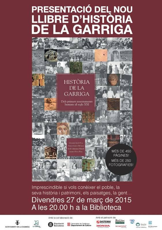 Cartell de presentació del llibre