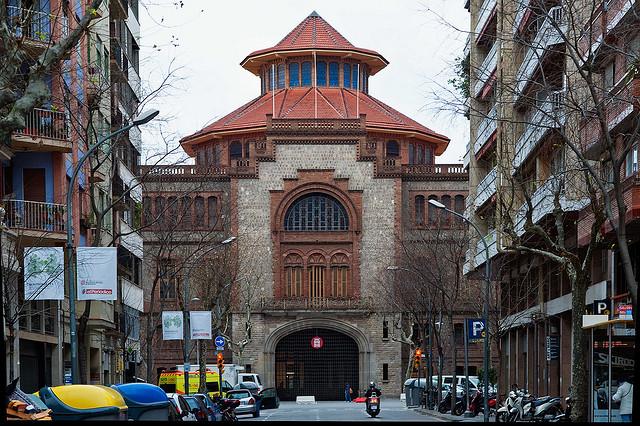 Entrada principal del Recinte de l'Escola Industrial de Barcelona. Autor: Salvador Altimir (CC BY-ND 2.0)