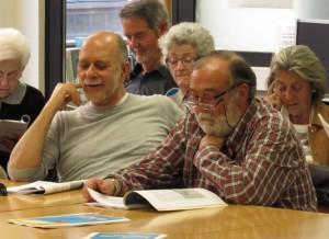 Josep Oliveras i Vicenç Oset, impulsors de la Revista Escolar, ara fa deu anys