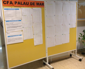 Panell informatiu del CFA Palau de Mar