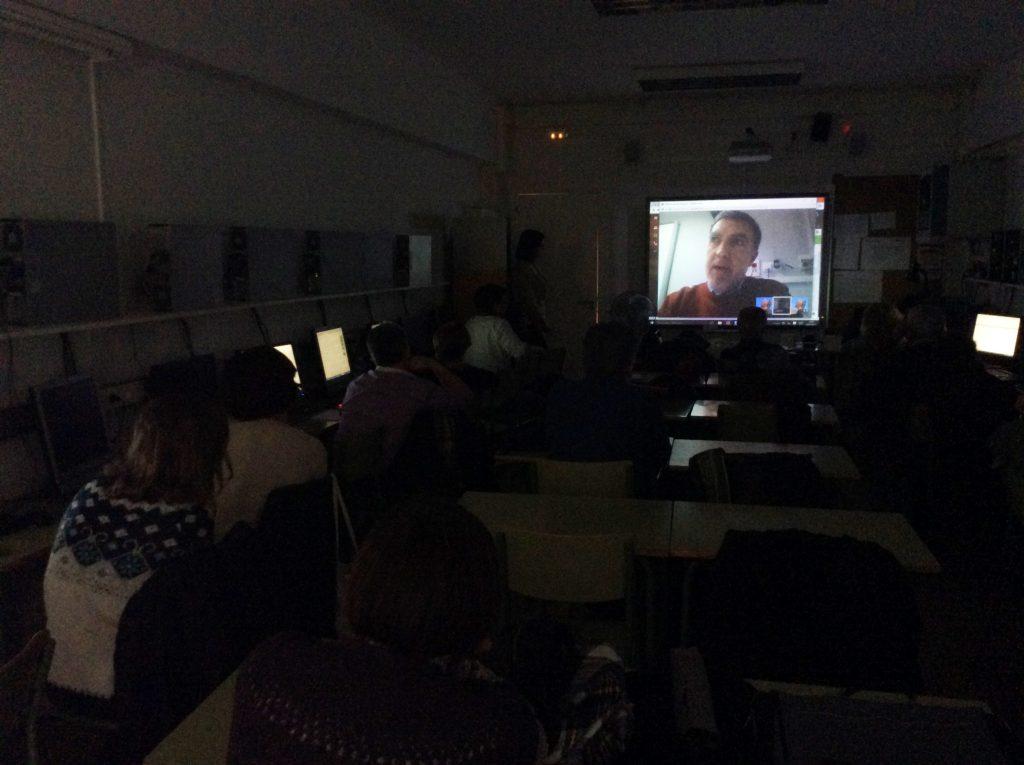 Videoconferencia amb els estudians de COMPETIC 2