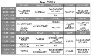 Horari Violes - 2n A